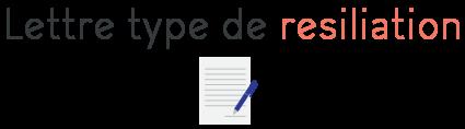 lettre type resiliation