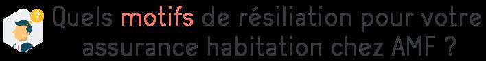 motifs resiliation amf assurance habitation