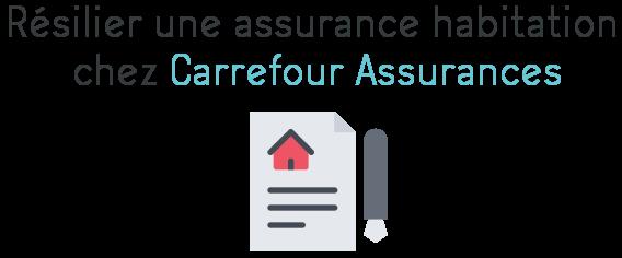 resilier assurance habitation carrefour assurance