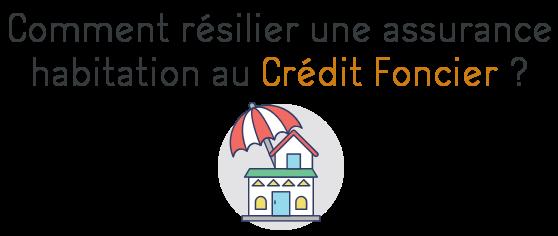 resilier assurance habitation credit foncier